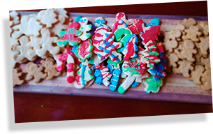 cabin Christmas cookies